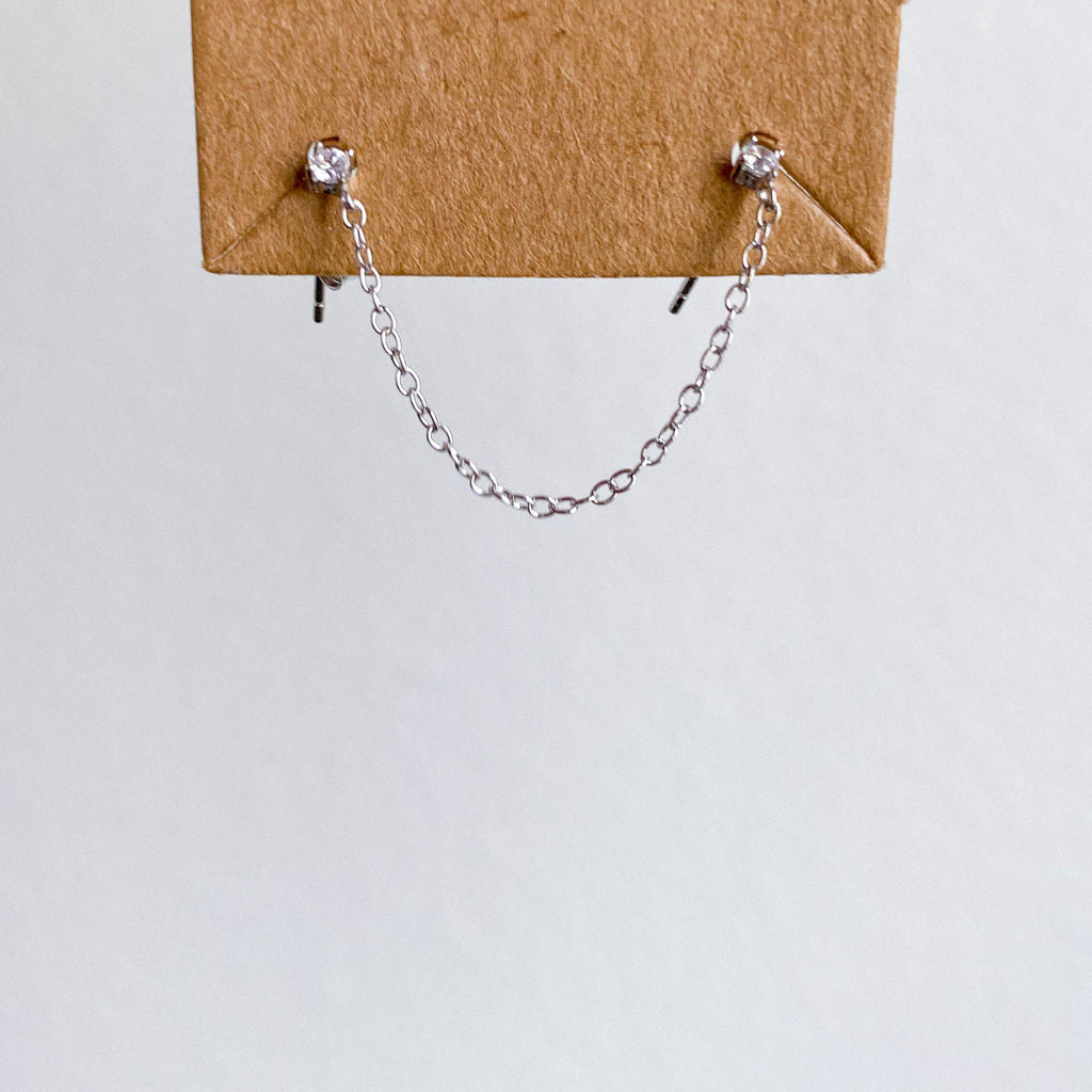 Billie Chain Link Studs - 925 Sterling Silver LOW STOCK!
