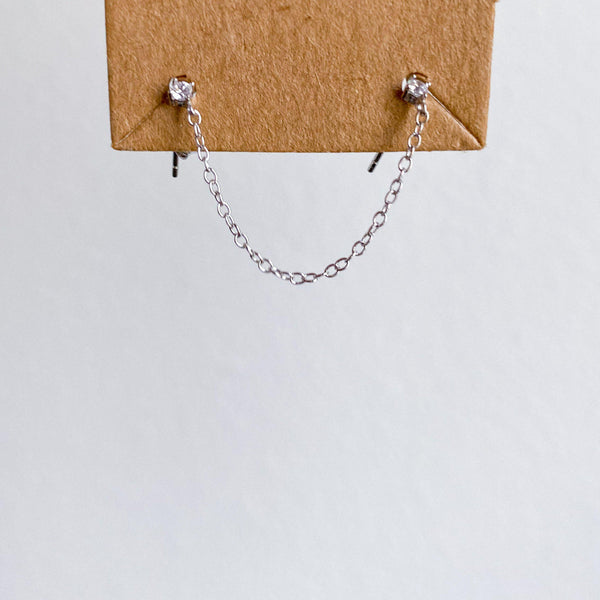 Billie Chain Link Studs - 925 Sterling Silver