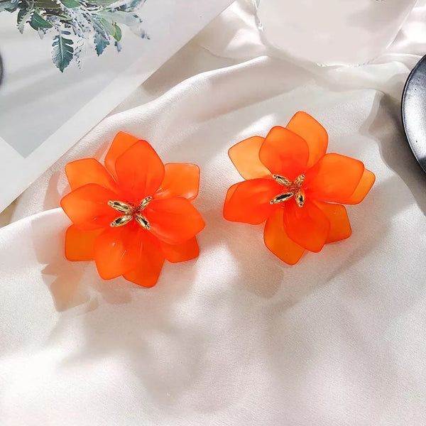 Dahlia Frosted Floral Earrings - LOW STOCK - The Songbird Collection