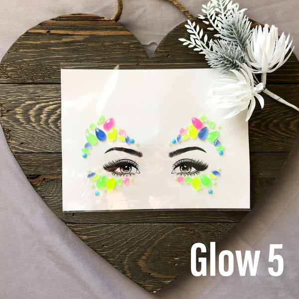 Glow in the Dark Face Gems - 1️⃣0️⃣ Designs!