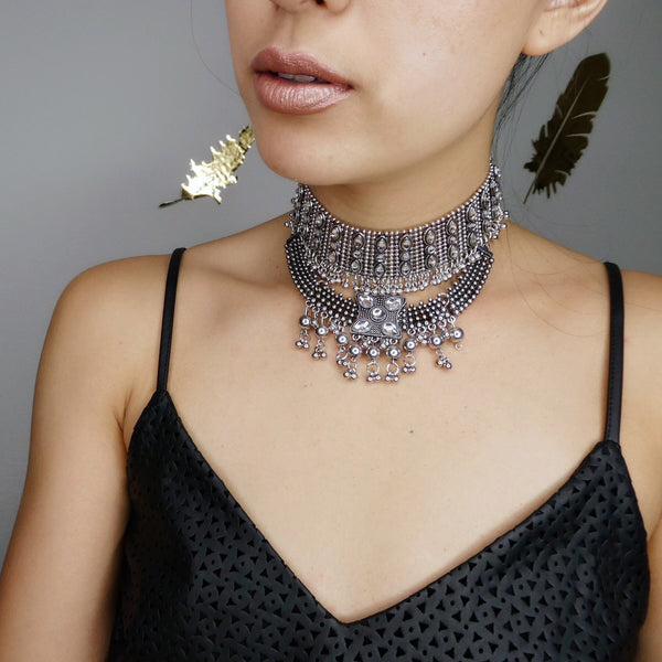 Chakra Maxi Metal Choker - Hurry! Just a Couple Left!! - The Songbird Collection