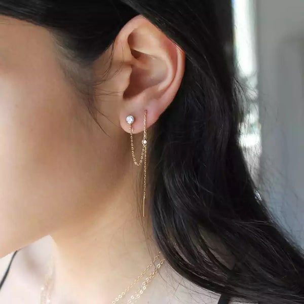 Ari Chain Link Threader Earring