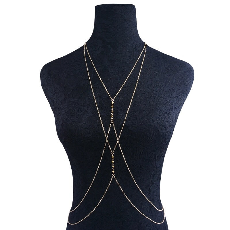 Sunset Whispers Beaded Body Chain