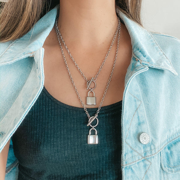 Locked 🔒 Chain Necklace - 2 Styles in Stainless Steel! LOW STOCK!! - The Songbird Collection