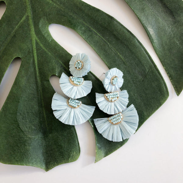 Bellini Raffia Statement Earrings - 10 Colors LOW STOCK! - The Songbird Collection