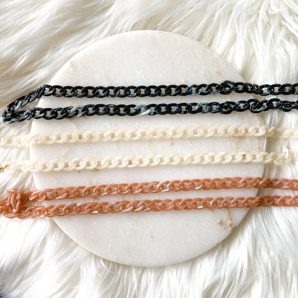 Acetate Chains Mask / Glasses Lanyard - 3 Colors LOW STOCK!