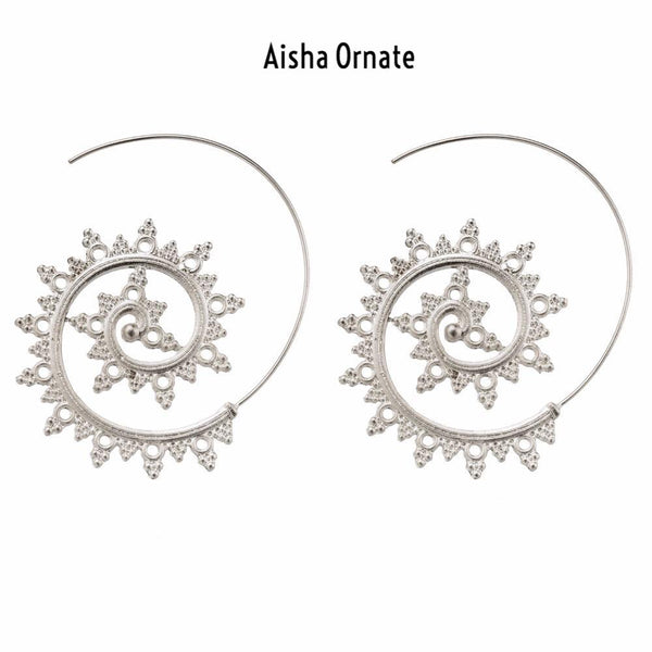 Aisha Swirl Earrings - 4 Bohemian Styles RESTOCKED! - The Songbird Collection