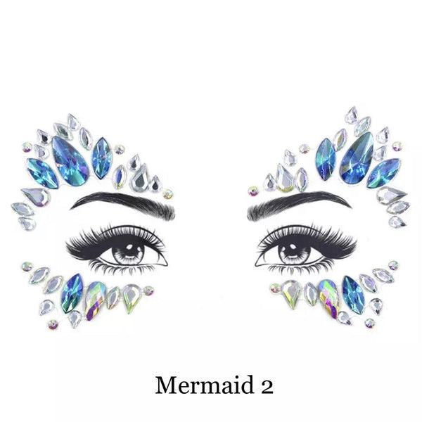 Mermaid Face Gems - 5 Designs! - The Songbird Collection