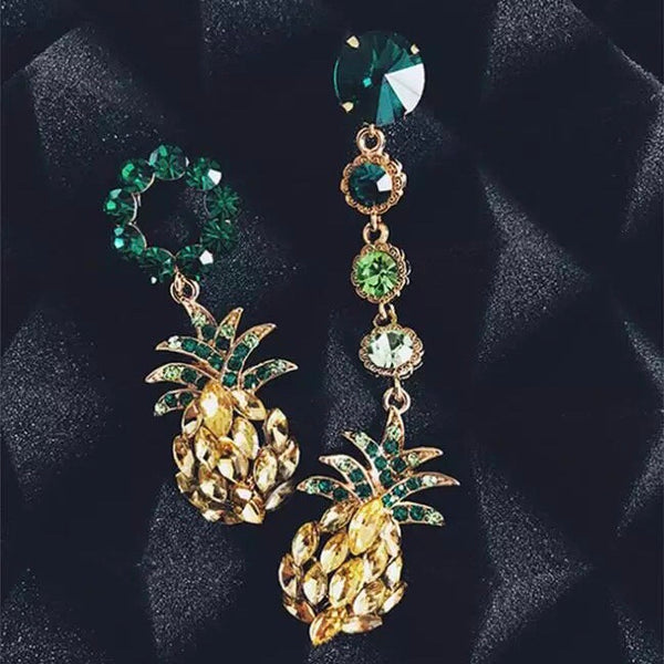 🍍 Hula Pineapple Asymmetric Earrings 🍍  - 6 LEFT! - The Songbird Collection
