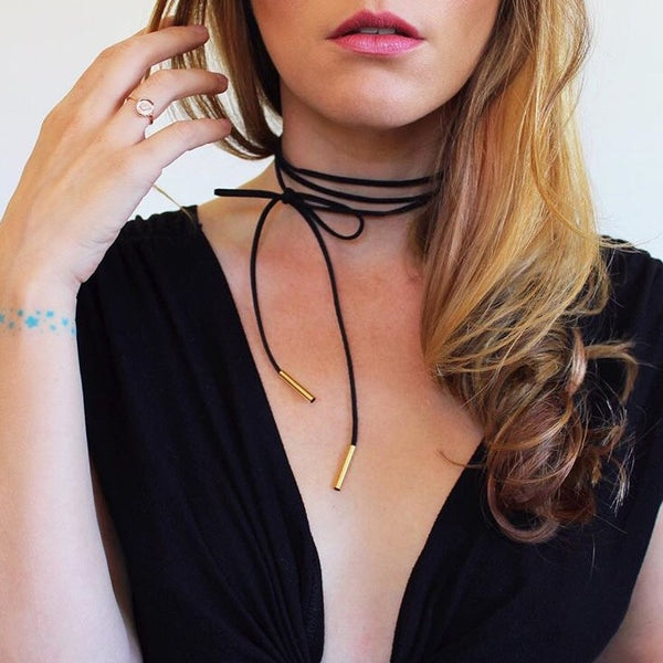 Soria Wrap Choker - The Songbird Collection