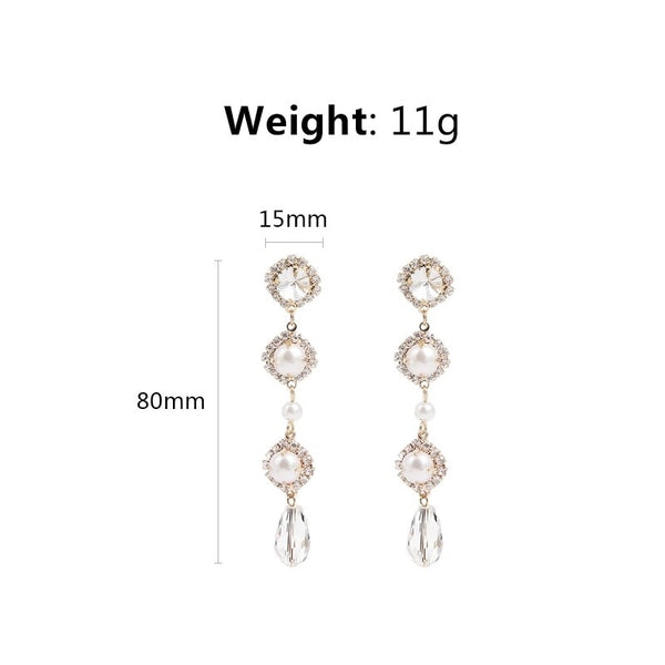 Genevieve Pearl Drop Earrings - The Songbird Collection