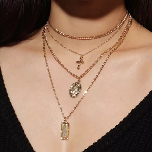 Gianna 4 Layer Pendant Necklace - HOORAY! RESTOCKED!! - The Songbird Collection