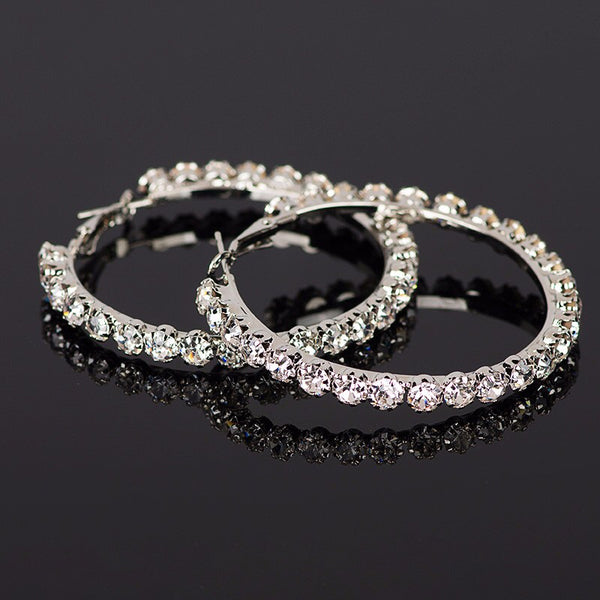 Cassi Crystal Hoop Earrings - Last Chance! - The Songbird Collection