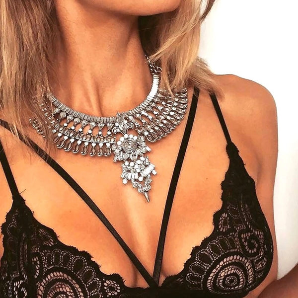 Shaya Maxi Statement Necklace- RESTOCKED! - The Songbird Collection