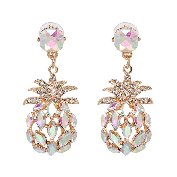 Pineapple Crystal Earrings - The Songbird Collection