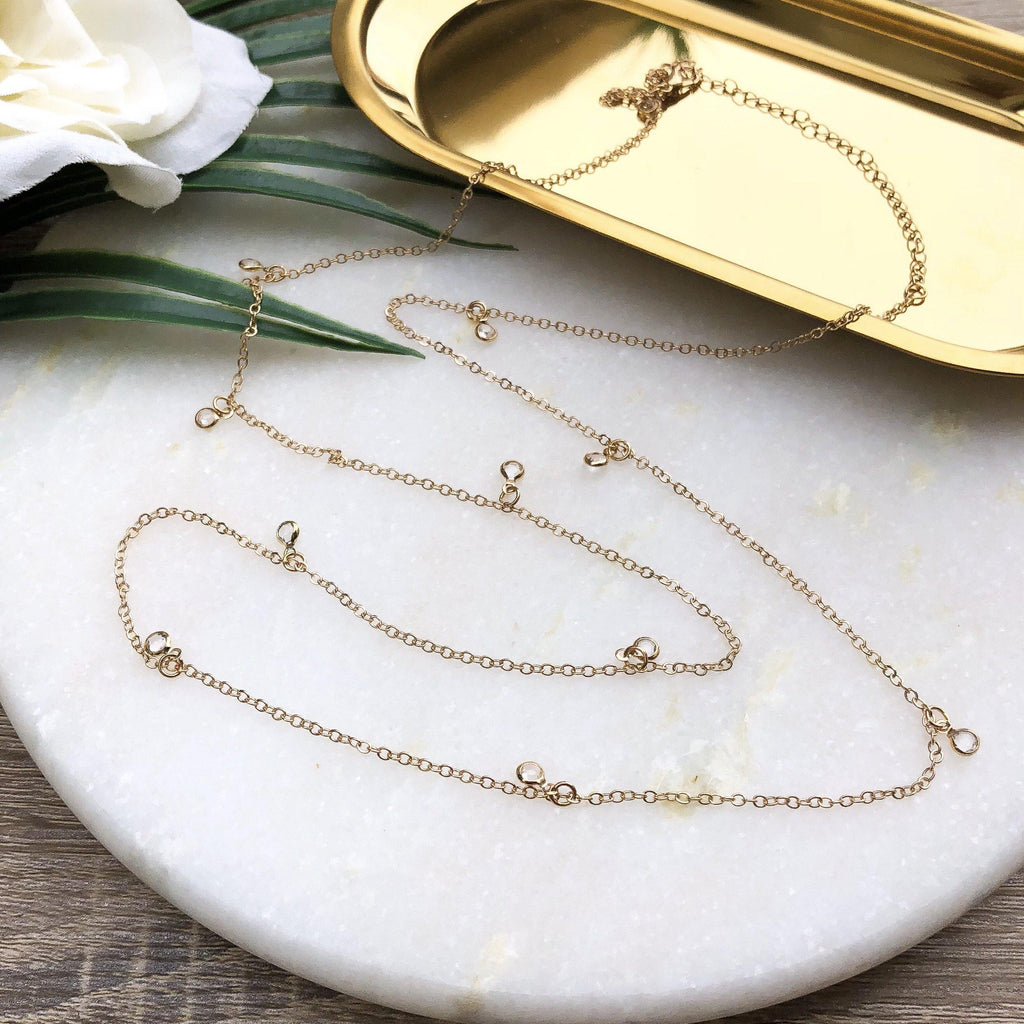 Sunkiss Drops Long Necklace - The Songbird Collection