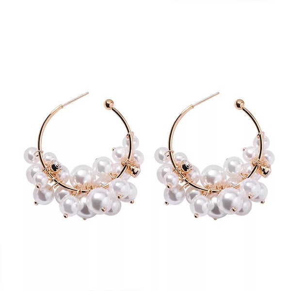 Tresor Pearl Hoop Earrings - RESTOCKED! - The Songbird Collection