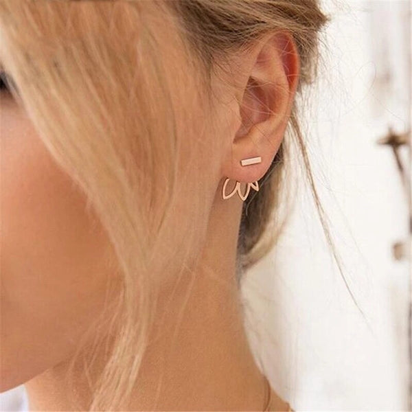 Flower Back Ear Jacket Earrings - Fan Fav! - The Songbird Collection