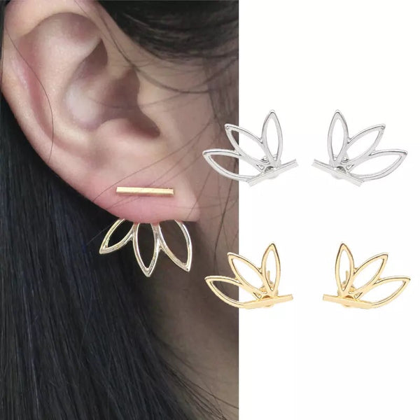 Flower Back Ear Jacket Earrings - Now In 4 Colors! LOW STOCK! - The Songbird Collection