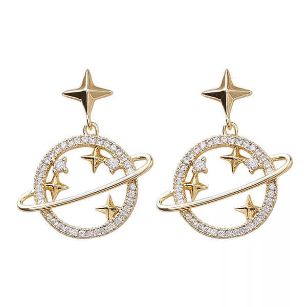 Galaxy Glam Earrings - Silver and Gold LOW STOCK! - The Songbird Collection
