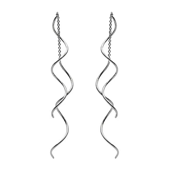 Twisted Threader Earrings - LOW STOCK - The Songbird Collection