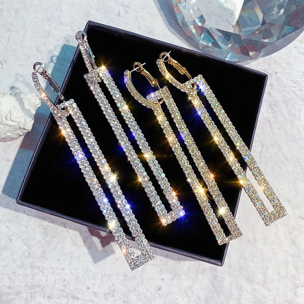 Koko Rhinestone Statement Earrings- 4 Colors LOW STOCK!! - The Songbird Collection