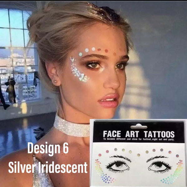 Metallic Face Temporary Tattoo Jewels - 11 Designs for 2020!! - The Songbird Collection