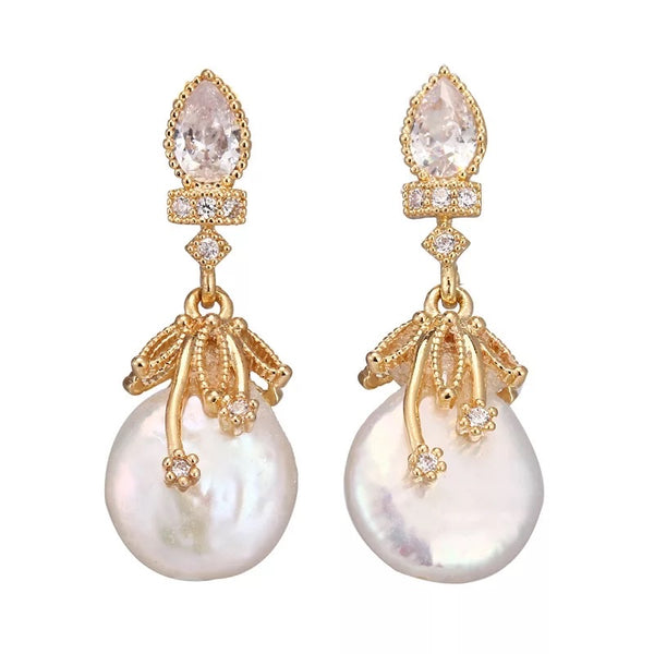 Cherish Freshwater Pearl Earrings - The Songbird Collection