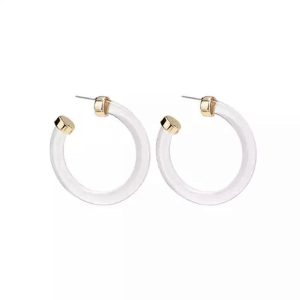 Crystal Clear Hoop Earrings- Yas!!!! iN STOCK!! - The Songbird Collection