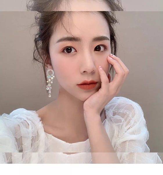 "Kristal Cluster Drop Earrings - As Seen on K-Drama ""Hotel Del Luna"" - The Songbird Collection"
