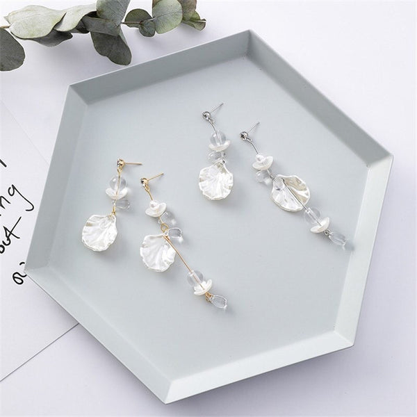 Sea Shore Breeze Asymmetric Earrings - The Songbird Collection