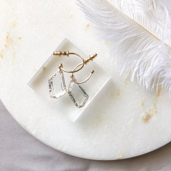 Karly Glass Gem Earrings - 2️⃣ LEFT! - The Songbird Collection