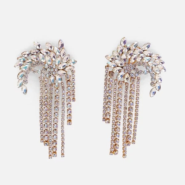Fireworks Rhinestone Tassel Earrings - ONLY 2 LEFT! - The Songbird Collection