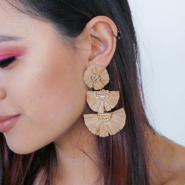 Bellini Raffia Statement Earrings: Uh~oh! Selling out FAST l!! - The Songbird Collection