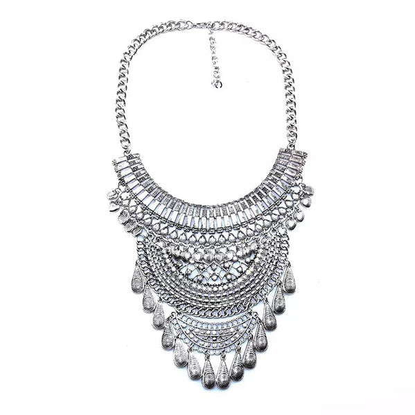 Odessa Maxi Statement Necklace - Now in Gold Too! - The Songbird Collection