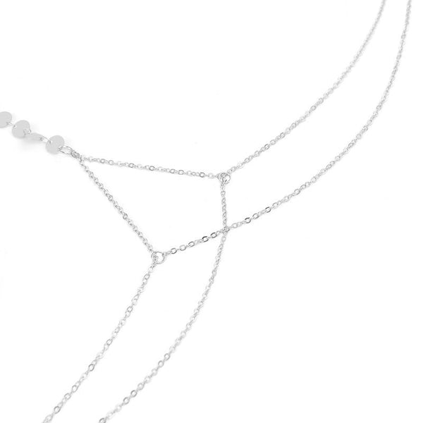 Disc Charm Body Chain - Gold & Silver RESTOCKED! - The Songbird Collection