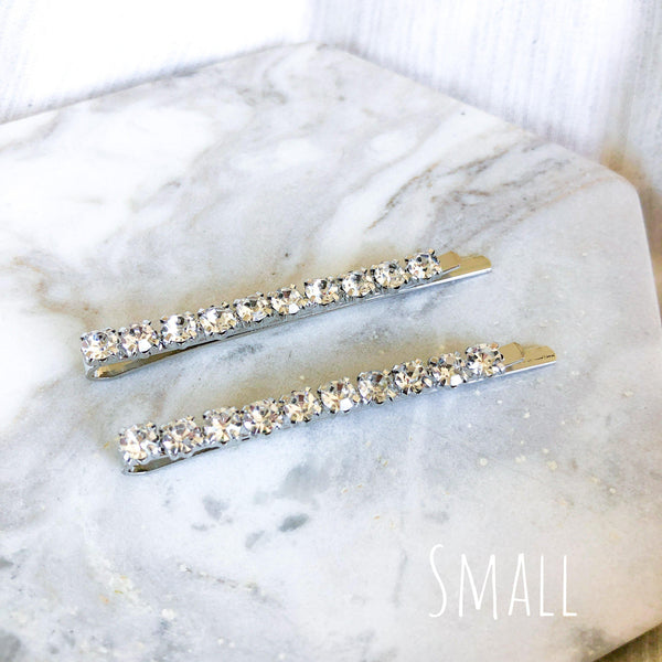 Double Rhinestone Hair Pin Set - 3 Sizes Selling Fast! - The Songbird Collection