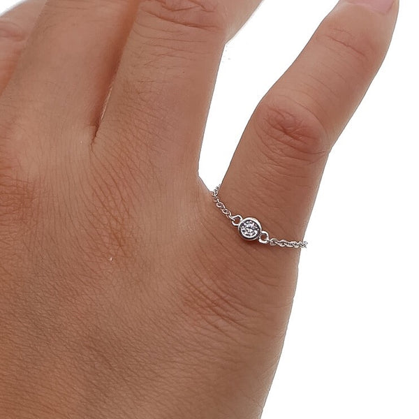 Lyra Solitare Sterling 925 Silver Ring - The Songbird Collection