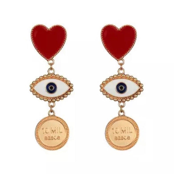 Le Cœur et L'œil (The Heart and the Eye) Earrings - 3 Styles!