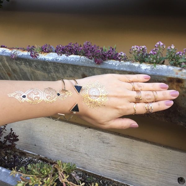 Metallic Temporary Tattoos - 6 Designs LOW STOCK! - The Songbird Collection
