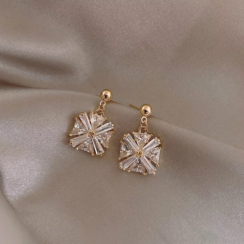Nara Crystal Earrings - be back late July - The Songbird Collection