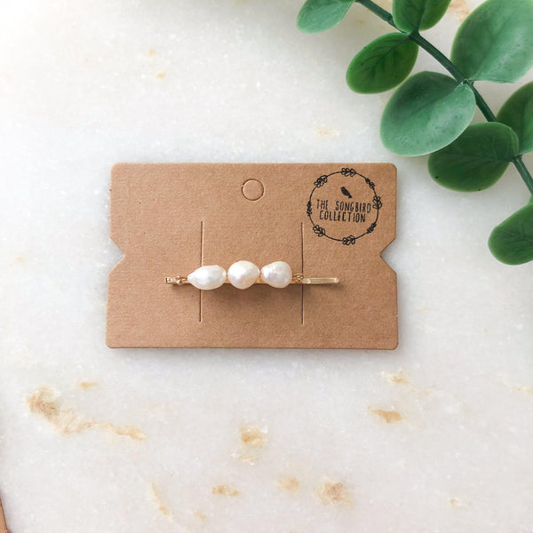 Handmade Freshwater Pearl Hair Pins - The Songbird Collection