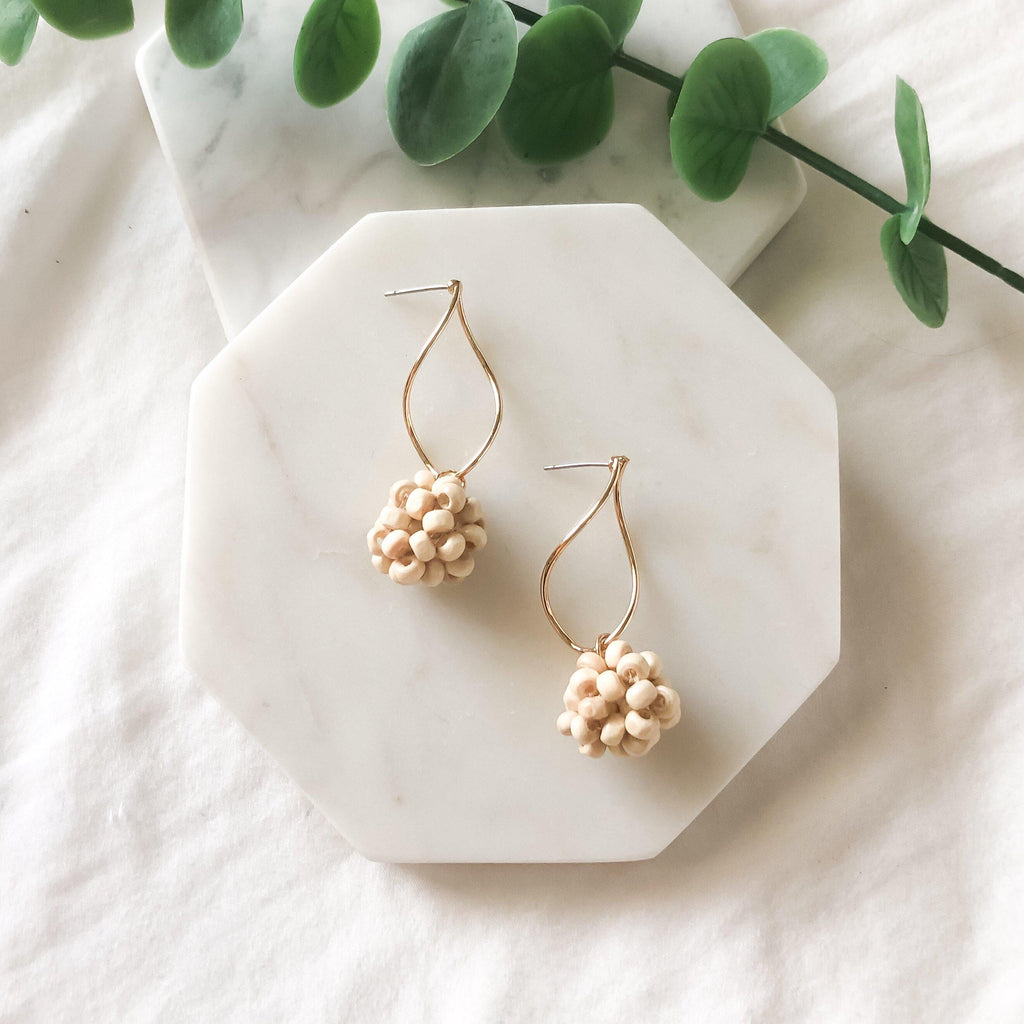 Koh Samui Bamboo Bead Earrings - LOW STOCK! - The Songbird Collection