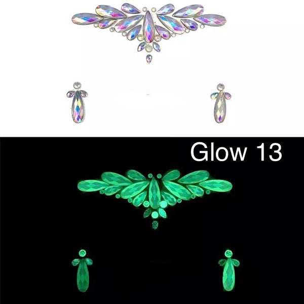 Glow in the Dark Face Gems - 14 NEW Designs for 2020! - The Songbird Collection