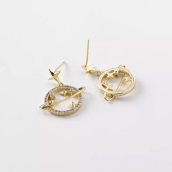Galaxy Glam Earrings - Silver and Gold RESTOCKED! - The Songbird Collection