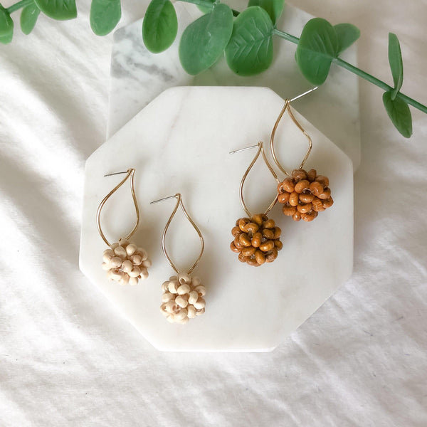 Koh Samui Bamboo Bead Earrings - The Songbird Collection