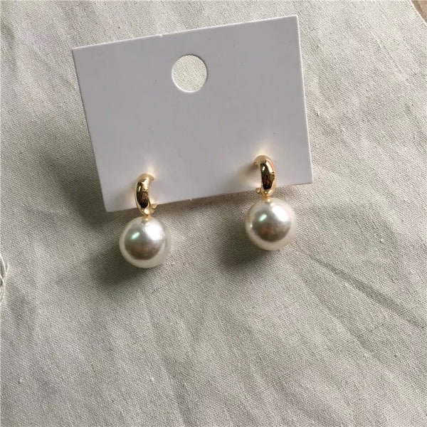 Milano Giant Pearl Earrings - The Songbird Collection