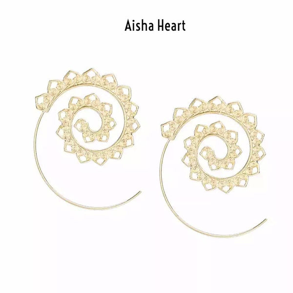 Aisha Swirl Earrings - 4 Bohemian Styles! - The Songbird Collection