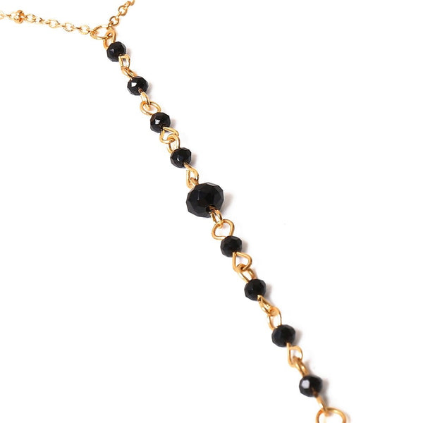 Midnight Kisses Black Beads Body Chain - The Songbird Collection