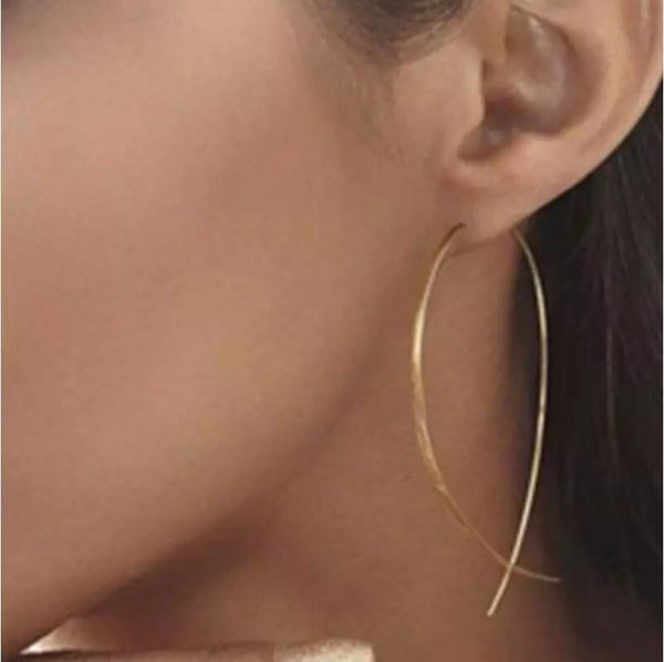 Lizzi Wire Loop Earrings - The Songbird Collection